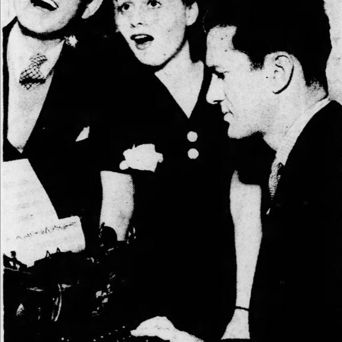 On April 6, 1936, ironically, Leo Robin's Birthday, Pittsburgh Post-Gazette reports: Leo Robin and Ralph Rainger with actress and dancer, Eleanore Whitney, merrily, working around the tune typing machine