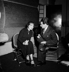 Lyricist Leo Robin with famed author Anita Loos who wrote the 1925 best seller Gentlemen Prefer Blondes. She along with Joseph Fields wrote the script for the 1949 musical. It opened on Broadway at the Ziegfeld Theatre where it ran for 740 performances. Jule Styne and Leo Robin wrote the score.