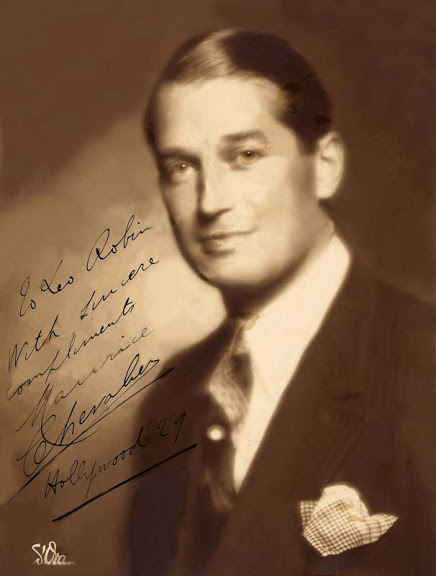 A very young Maurice Chevalier presented Leo with this personally-inscribed photo in 1929 as an expression of his affection and gratitude. Leo gave him the words that he is universally known for: