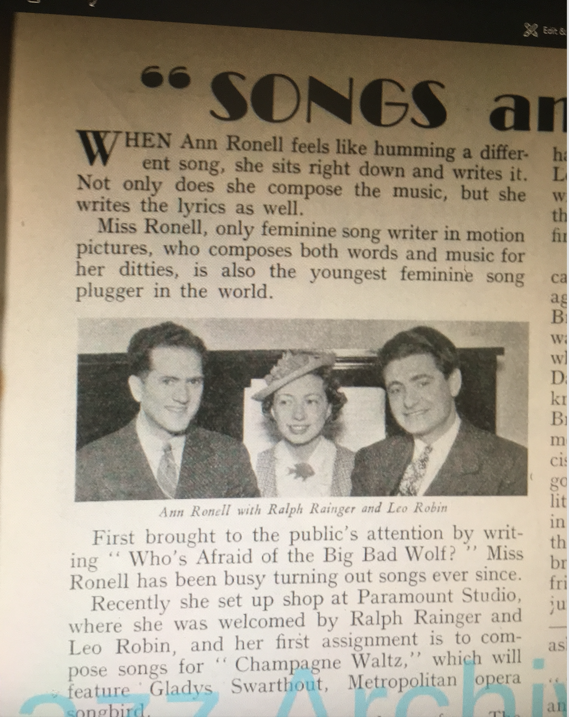Reported by Music News & Dance Band in August, 1936