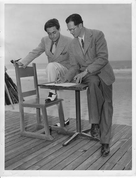 """""""Faithful Forever:"""" Leo Robin and Ralph Rainger in Miami in 1941 when they wrote the score for Gulliver's Travels."""