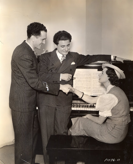 Leo Robin and Ralph Rainger with their friend, Ann Ronell, one of the few women songwriters in Hollywood at that time, who wrote