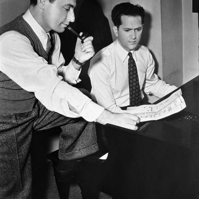Leo Robin and Ralph Rainger at work.  A classic shot.
